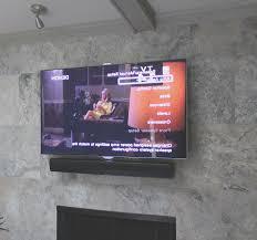 fireplace new hang tv above brick fireplace best home design