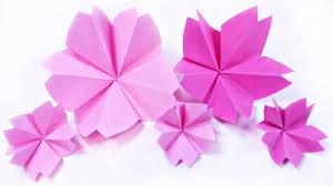 origami kusudama cherry blossom flower tutorial sakura paper