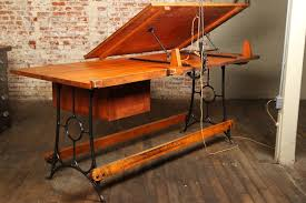 Wood Drafting Table Going To Work With Vintage Drafting Table Montserrat Home Design