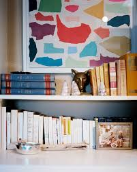 Container Store Bookshelves Point Counterpoint Color Coded Bookshelves Decorating Lonny