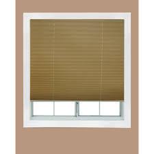 redi shade white fabric corded light blocking pleated shade 36