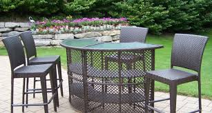 Patio High Table And Chairs Furniture Awesome Bar Height Patio Furniture Cool High Table