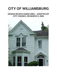 williamsburg architectural design review guidelines by city of