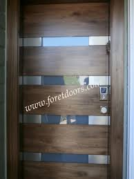 Modern Exterior Doors by Modern Front Door With Horizontal Glass Windows Gallery Of