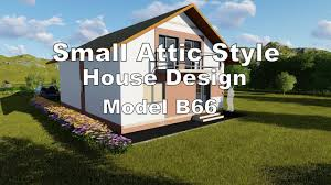 small attic style house with 3d floor plans and interiors model