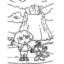 10 free printable volcano coloring pages
