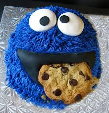 Cookie Monster Baby Shower Decorations Jazzed Up Cakes Cookie Monster Cake