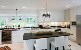traditional kitchen lighting design with beautiful windows ideas