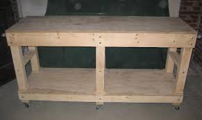 Simple Wood Bench Instructions by Garage Work Bench Building U0026 Construction Diy Chatroom Home