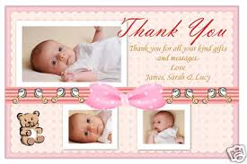 thank you cards baby birth thank you photo cards