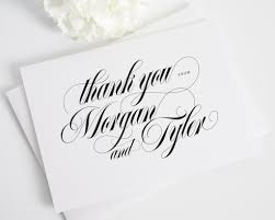 thank you cards calligraphy names thank you cards thank you cards by shine