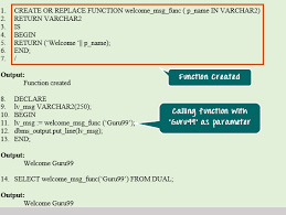 tutorial oracle stored procedure oracle pl sql stored procedure functions with exles