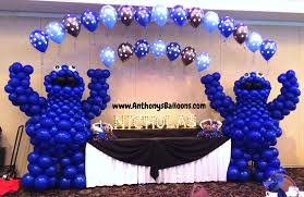 cookie monster baby shower chicago balloon decor