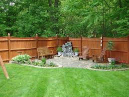 Backyard Space Ideas Landscape Excellent Simple Backyard Landscaping Terrifi Green