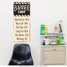 barber shop haircut prices wall decal bathroom decor