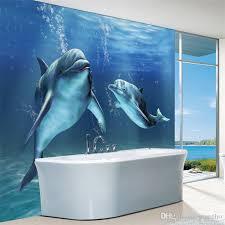 dolphin home decor charms sea world wall mural 3d cute dolphin wallpaper large wall art