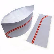 chapeau de cuisine restaurant chef 100 papier chapeau cuisine cap réglable chefs