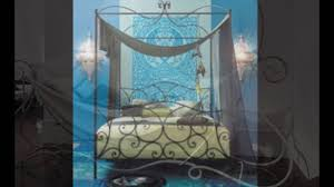 Rod Iron Canopy Bed by Wrought Iron Canopy Bed Youtube