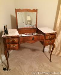 french provincial vanity makeover in diy vintage linen farm