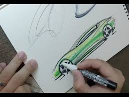 industrial design sketching how to sketch with markers youtube