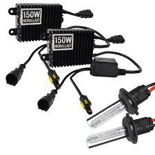 hid fog light ballast 2pcs 150w hid ballast 55w xenon light 12v 6000k h7 car led fog light