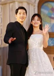 wedding dress song lead song joong ki song hye kyo get married in wedding