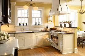 cream kitchen with granite countertops