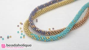 making necklace with beads images How to make the long beaded kumihimo necklace kit abridged jpg