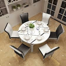 usd 289 67 retractable solid wood folding table round 6 people 8