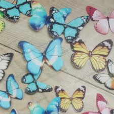 Edible butterflies for cake 34pcs 3D edible butterfly cake