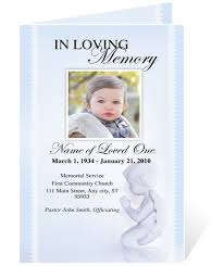 baby funeral program ao single fold programs ao angelo letter single fold funeral