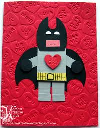 batman valentines card s kreative kards batman lego heart for my grandson