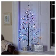 buy festive 4ft black stem fibre optic tree from our