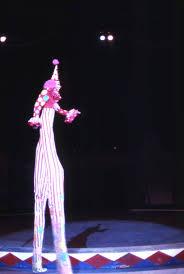 clown stilts florida memory view showing clown walking on stilts during