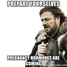 Pregnancy Hormones Meme - prepare yourselves pregnancy hormones are coming prepare