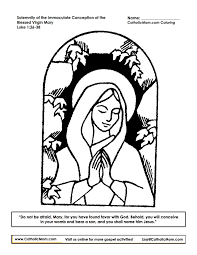 immaculate conception coloring pages holidays and observances