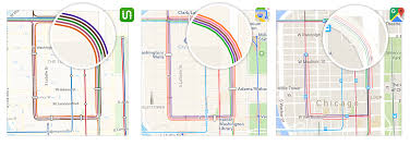The Loop Chicago Map by Transit Maps Apple Vs Google Vs Us U2013 Transit U2013 Medium