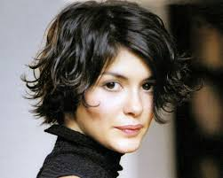 short brunette hairstyles front and back audrey tautou brunette hair short flipped out playful hairstyle