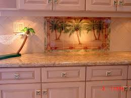 Kitchen Mural Backsplash Palm Tree Tile Murals
