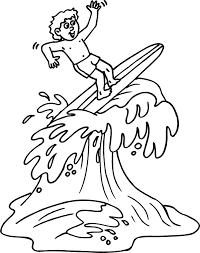 Surfboard Coloring Pages Clip Art Library Surfboard Coloring Page