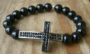 cross bracelet mens images Pave cross bracelet jpg