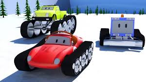 monster truck cartoon videos snowplough monster trucks u0026 spid the racing car cartoons for