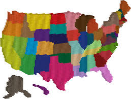 Unted States Map by Clipart 3d Multicolored United States Map Dots
