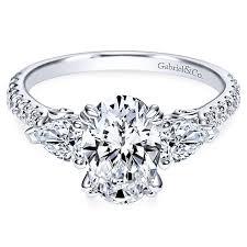3 engagement ring sookie 14k white gold oval 3 stones engagement ring er9048w44jj