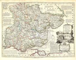Essex England Map by England U0026 Wales Emanuel Bowen 1756 A 1 54 U2013 L Brown Collection