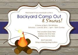 smores birthday party invitations smores camping birthday party