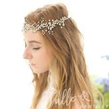 bridal hair accesories silver floral wedding bridal hair accessories headband twahp041