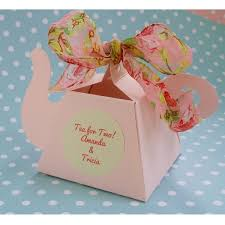 tea party favors garden tea party vintage teapot favor boxes pink