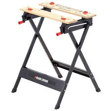 stanley folding work table black decker wm125 workmate portable project center and vise