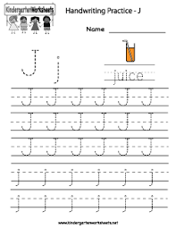 letter j writing practice worksheet troah handwriting sheets